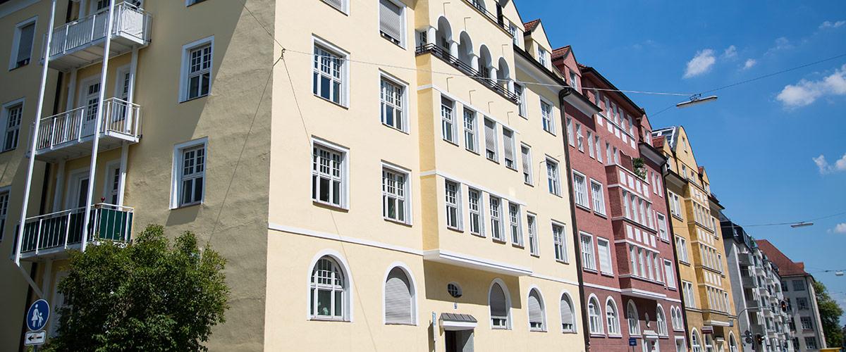 Wunderschöne Altbauhäuser in München